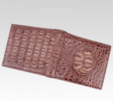 Unique Genuine Crocodile Hornback Skin Wallet for Men-Front
