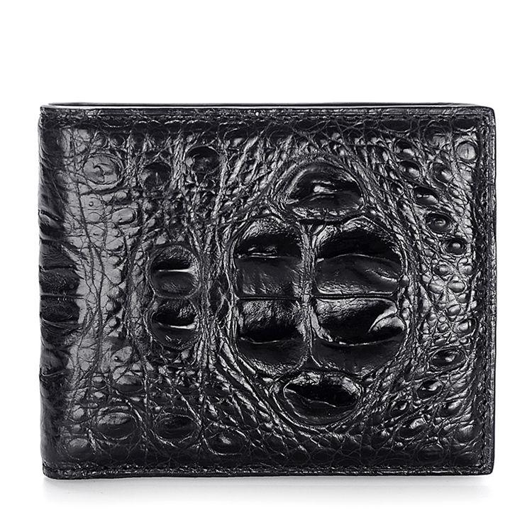 unique genuine crocodile hornback skin wallet for men