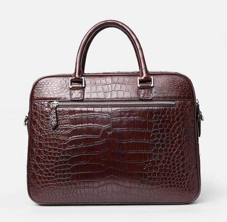 Alligator Briefcase Laptop Shoulder Messenger Bag for Men-Back