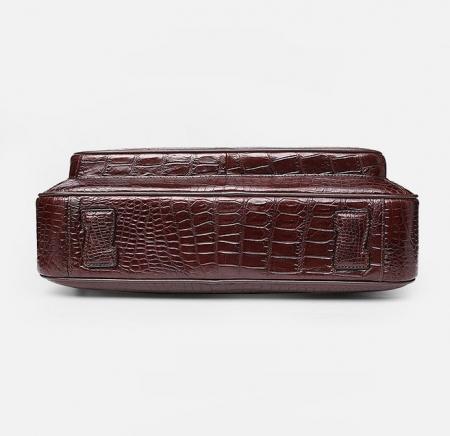Alligator Briefcase Laptop Shoulder Messenger Bag for Men-Bottom