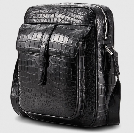 Alligator Messenger Bag Crossbody Shoulder Bag-1