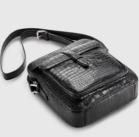 Alligator Messenger Bag Crossbody Shoulder Bag-Exhibition