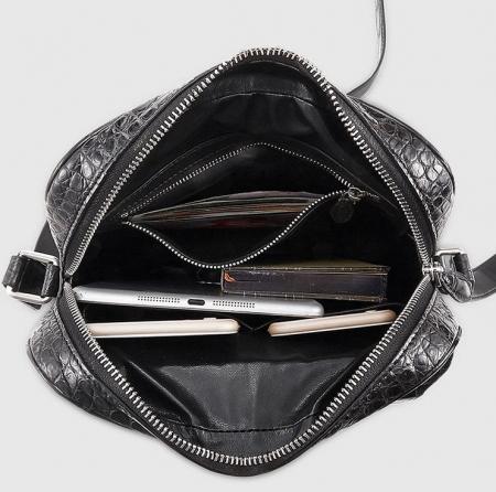 Alligator Messenger Bag Crossbody Shoulder Bag-Inside