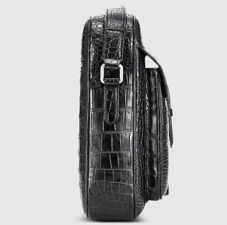 Alligator Messenger Bag Crossbody Shoulder Bag-Side