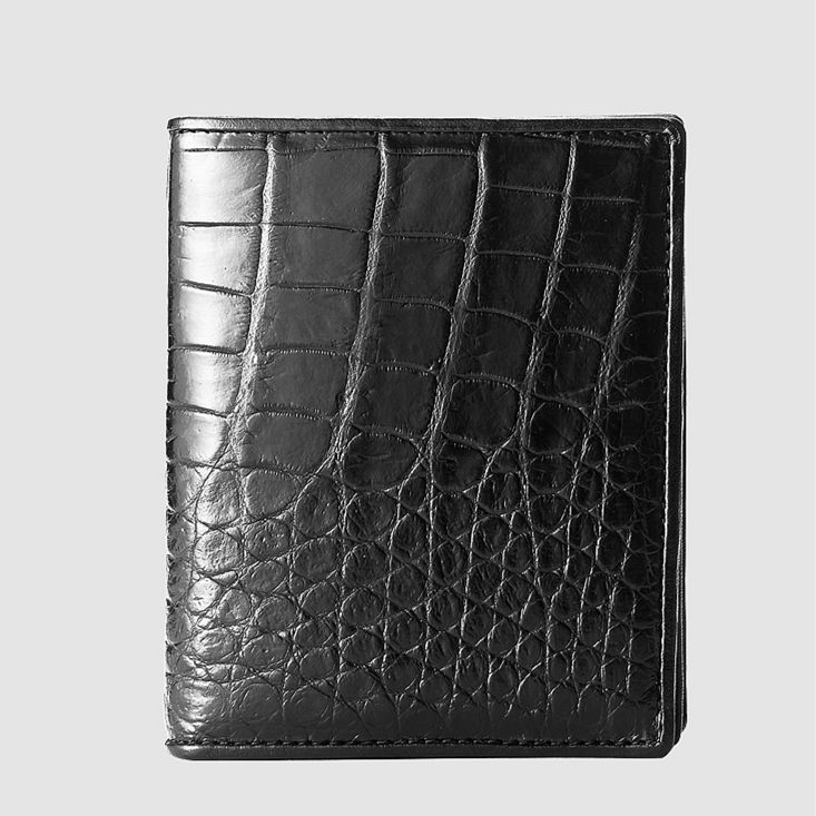 Best Crocodile Leather Wallet, Luxury Crocodile Leather Wallet for Men-Black