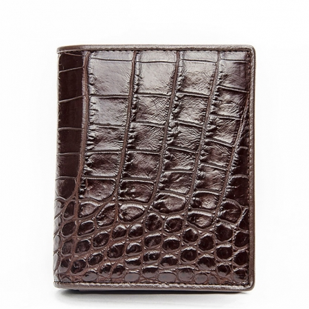 Best Crocodile Leather Wallet, Luxury Crocodile Leather Wallet for Men-Dark Brown