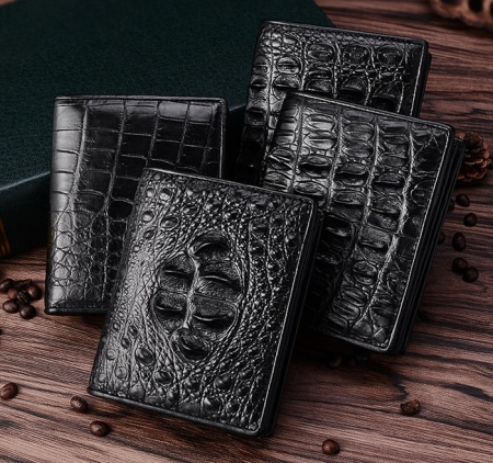 Best Crocodile Leather Wallet, Luxury Crocodile Leather Wallet for Men-Exhibition