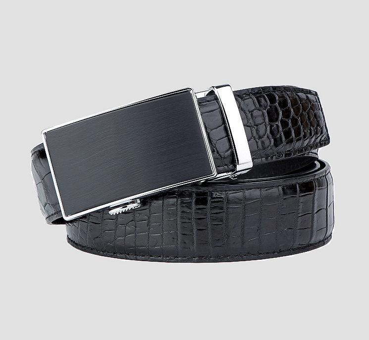 Classic Alligator Belt, Alligator Business Dress Belt-1
