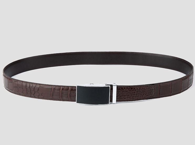 Classic Alligator Belt, Alligator Business Dress Belt-2