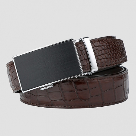 Classic Alligator Belt, Alligator Business Dress Belt-5
