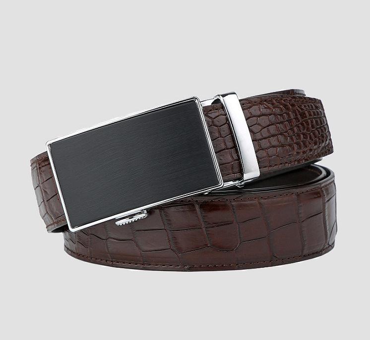 Classic Alligator Belt, Alligator Business Dress Belt-5