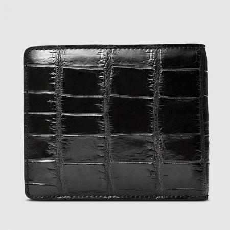 Classic Alligator Wallet, Genuine Alligator Skin Wallet for Men-Back