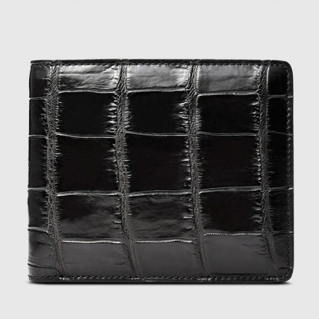 Classic Alligator Wallet, Genuine Alligator Skin Wallet for Men-Front