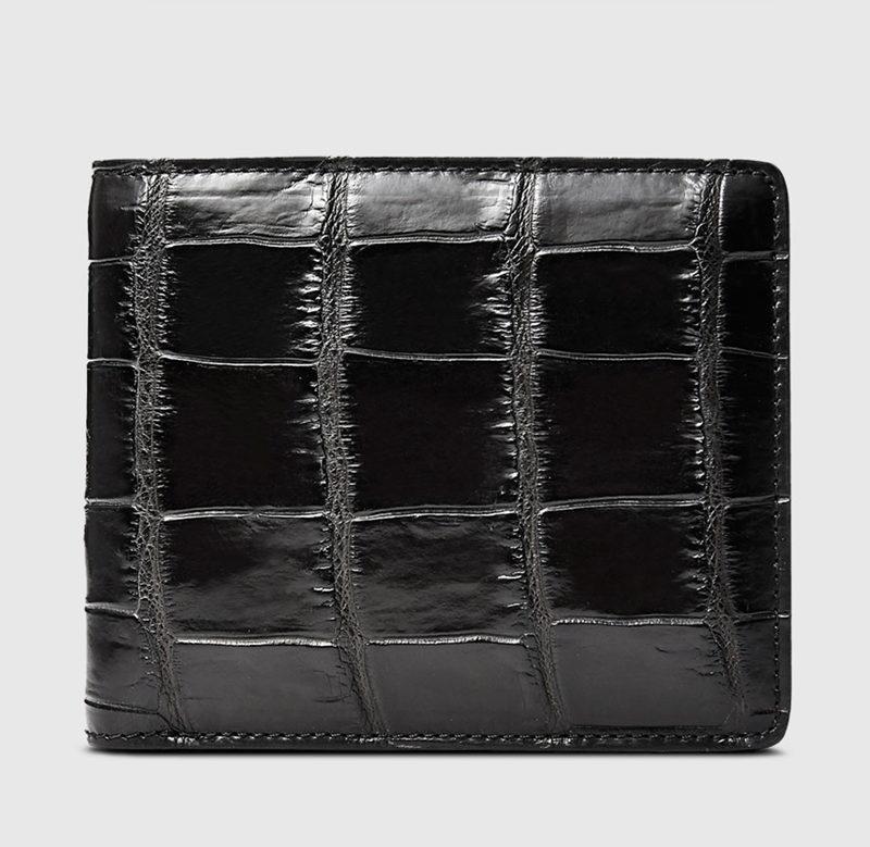 Classic Alligator Wallet, Genuine Alligator Skin Wallet for Men-Front