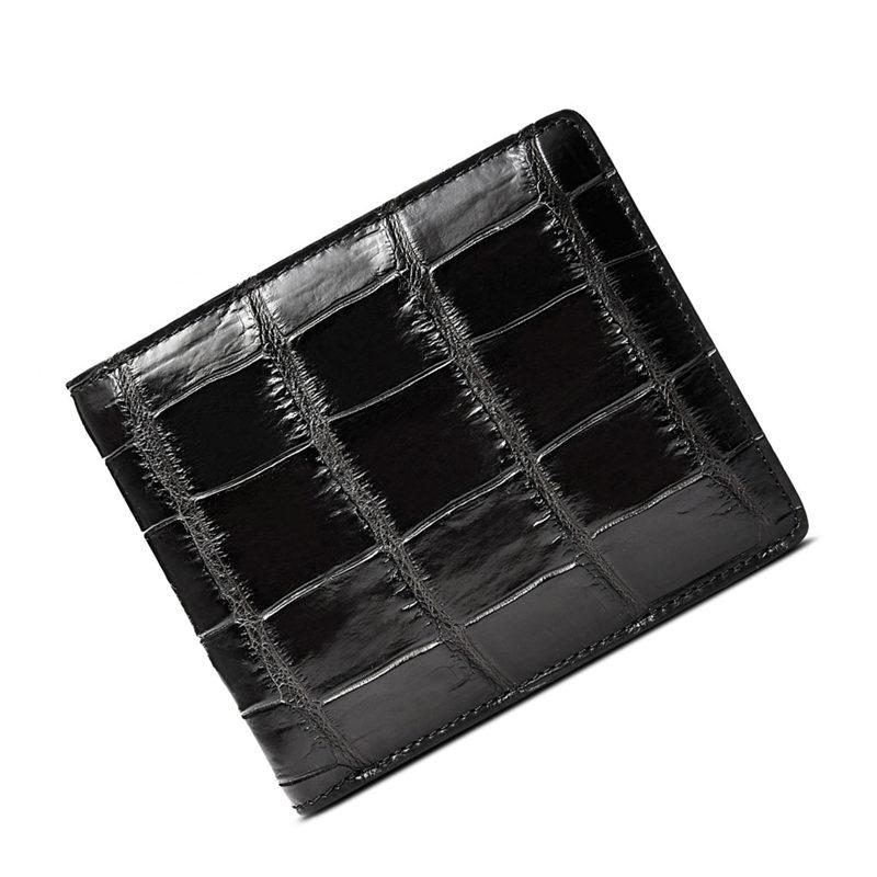 Classic Alligator Wallet, Genuine Alligator Skin Wallet for Men