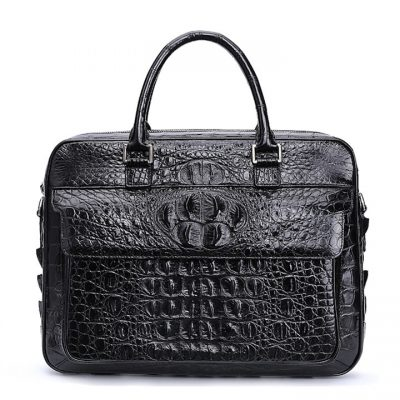 Crocodile Briefcase, Crocodile Shoulder Bag Crossbody Bag for Men