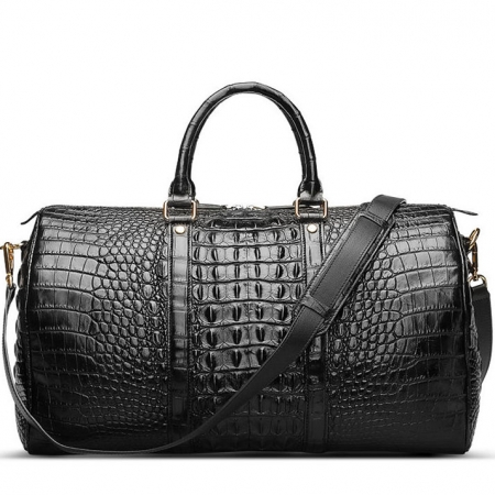 Crocodile Leather Travel Weekender Overnight Duffel Bag