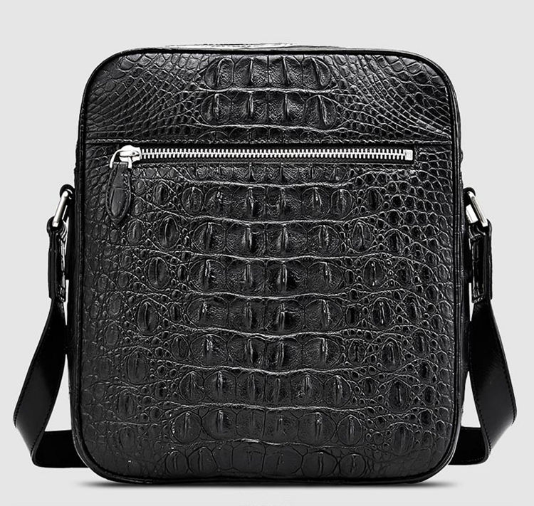 Crocodile Messenger Bag Crossbody Shoulder Bag-Back