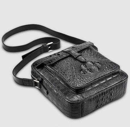 Crocodile Messenger Bag Crossbody Shoulder Bag-Bottom