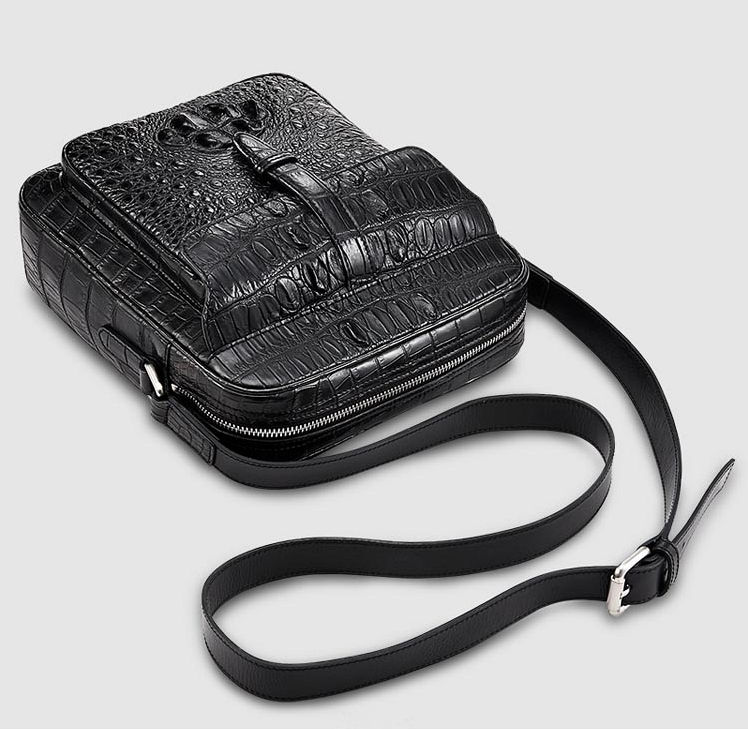 Crocodile Messenger Bag Crossbody Shoulder Bag-Exhibition