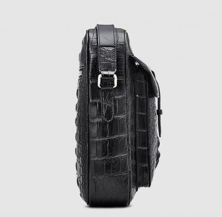 Crocodile Messenger Bag Crossbody Shoulder Bag-Side