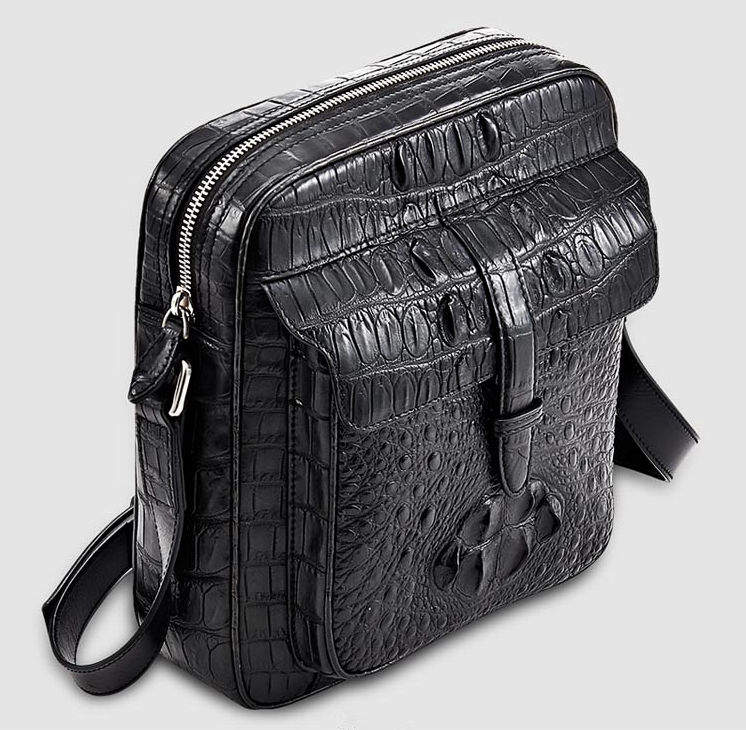 Crocodile Messenger Bag Crossbody Shoulder Bag-Top