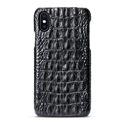 Crocodile iPhone XS Max, XS, X Case, Crocodile Snap-on Case for iPhone XS Max, XS, X-Back Skin-Black