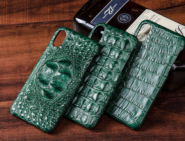 Crocodile iPhone X Case, Crocodile Snap-on Case for iPhone X-Belly Skin-Green-Exhibition
