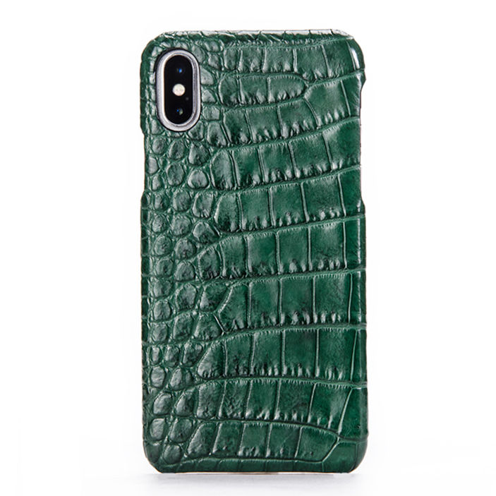 Crocodile iPhone X Case, Crocodile Snap-on Case for iPhone X-Belly Skin-Green