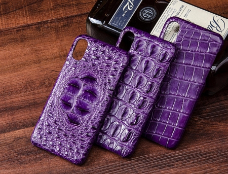 Crocodile iPhone X Case, Crocodile Snap-on Case for iPhone X-Belly Skin-Purple-Exhibition