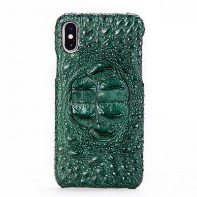 Crocodile iPhone X Case, Crocodile Snap-on Case for iPhone X-Head Skin – Green