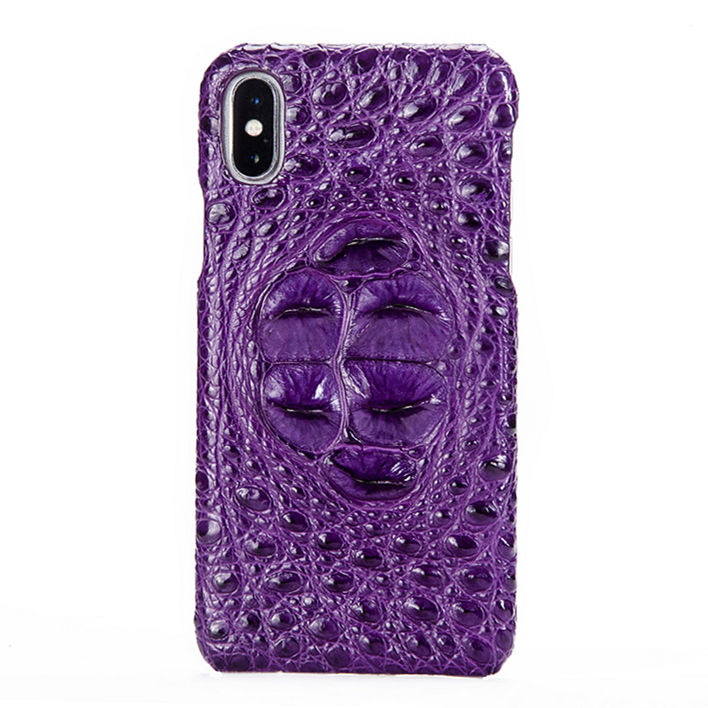 Crocodile iPhone X Case, Crocodile Snap-on Case for iPhone X-Head Skin – Purple