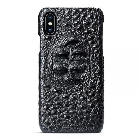 Black iPhone Xs Max, Xs, X Crocodile Head Skin Snap-on Case