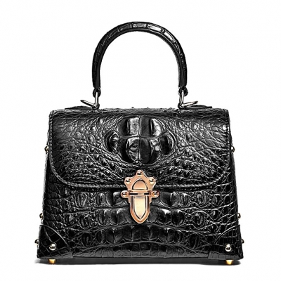 Designer Crocodile Handbags Crossbody Bags-Black