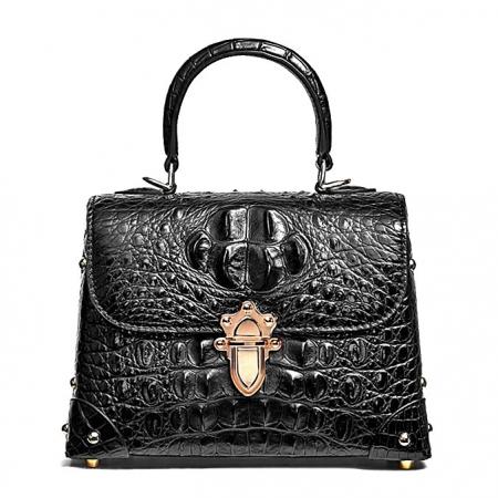 Designer Crocodile Handbags Crossbody Bags-Black
