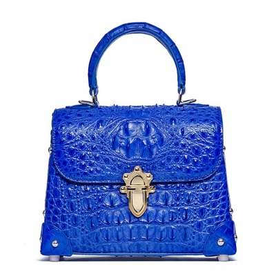 Designer Crocodile Handbags Crossbody Bags-Blue