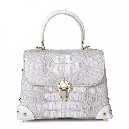 Designer Crocodile Handbags Crossbody Bags-White