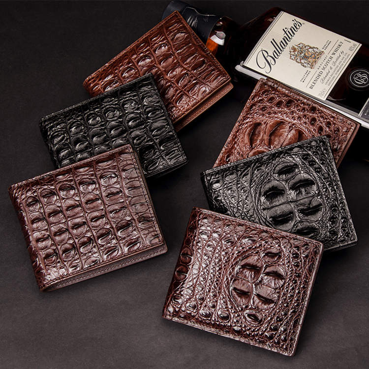 Designer Crocodile Skin Wallets