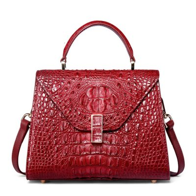 Designer Top Handle Crocodile Handbag Crossbody Bag Crocodile Purse
