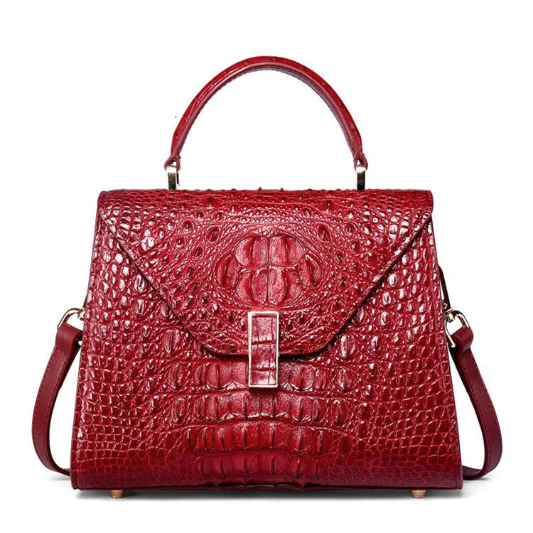 Designer Top Handle Crocodile Handbag Crossbody Bag Crocodile Purse