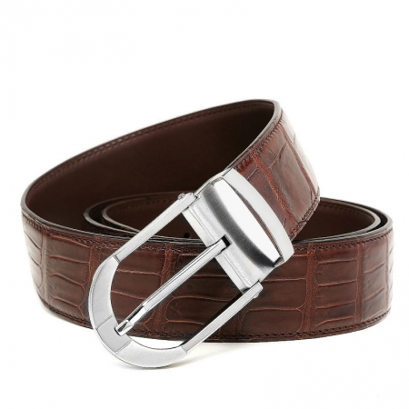 Fashion Alligator Belt, Reversible Alligator Leather Belt for Men-1