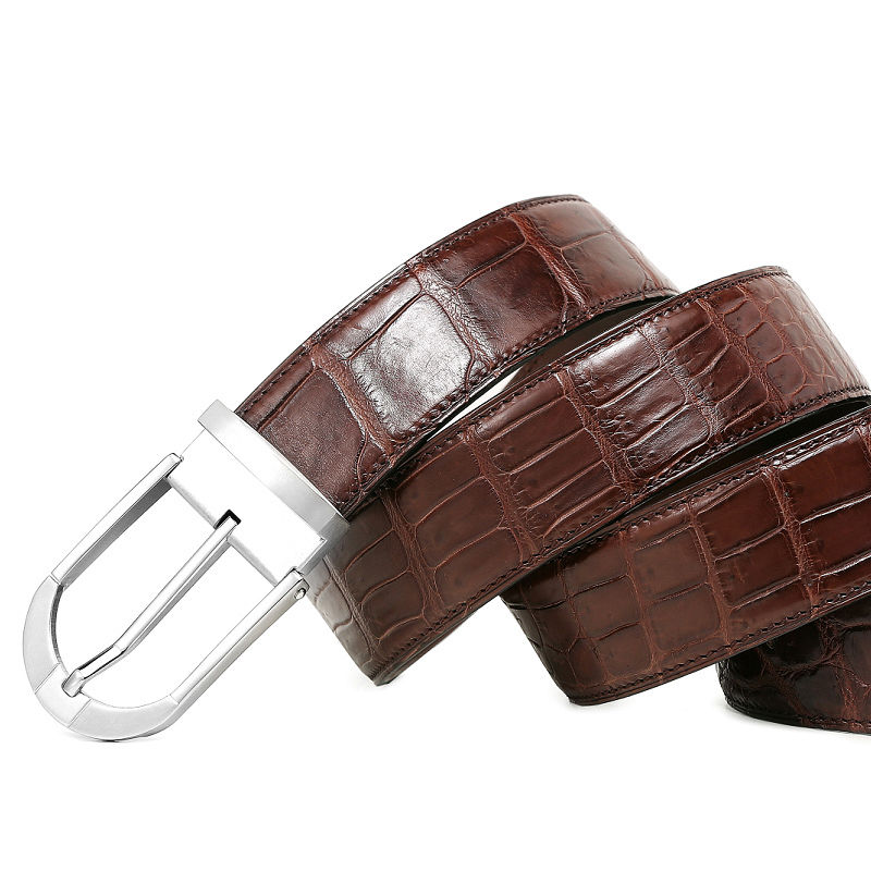 Fashion Alligator Belt, Reversible Alligator Leather Belt for Men-2