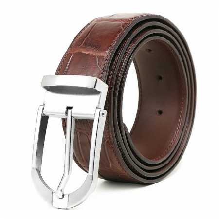 Fashion Alligator Belt, Reversible Alligator Leather Belt for Men