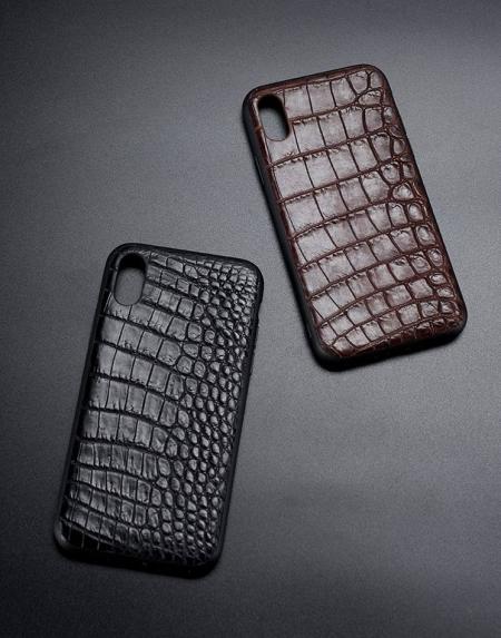 Genuine Alligator Skin iPhone X Cases Covers - Belly Skin