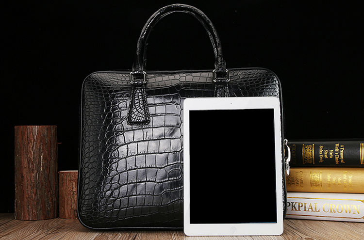 Genuine Crocodile Skin Laptop Bag