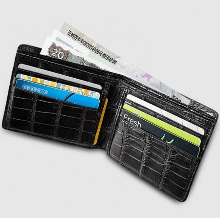 Genuine Full Alligator Skin Wallet for Men-Inside