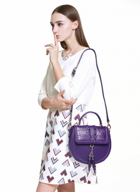 Ladies Designer Crocodile Handbag, Crocodile Purse-1