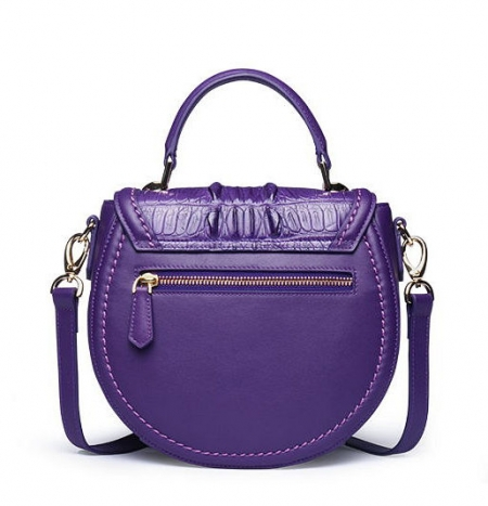 Ladies Designer Crocodile Handbag, Crocodile Purse-Back