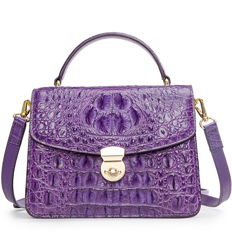 Ladies Designer Crocodile Purses Cross Body Handbag