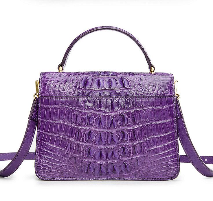 Ladies Designer Crocodile Purses Cross Body Handbags-Back